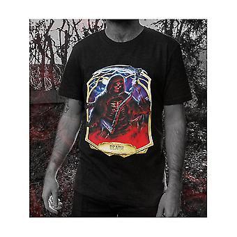 Dödliga Tarot Mens Obsidian Death T-shirt