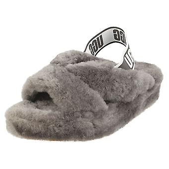 UGG Fab Yeah Womens Slippers Shoes in Charcoal