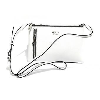 Guess Naya Double Zip Crossbody White Bag Bs21gu100 Vy788170