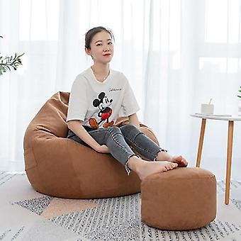 Lazy Sofa  Solid Chair Covers