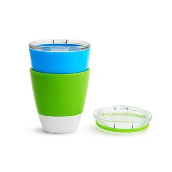 Munchkin splash cups 237ml 2 pack green and blue