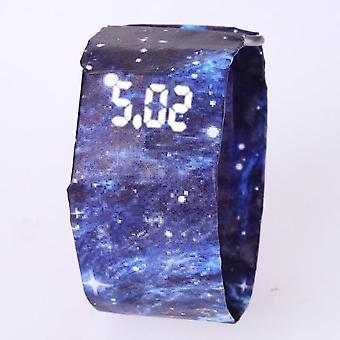 Waterproof  Wristband Paper Good-looking Led Clock Watch
