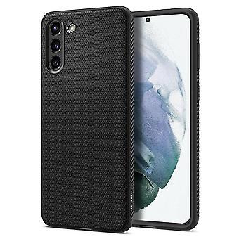 Coque Pour Samsung Galaxy S21+ 5g En Silicone Noir Mat, Liquid Air
