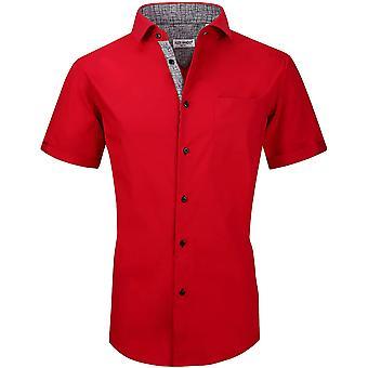 Alex Vando Heren Overhemden Casual Regular Fit Korte Mouw Heren Shirt
