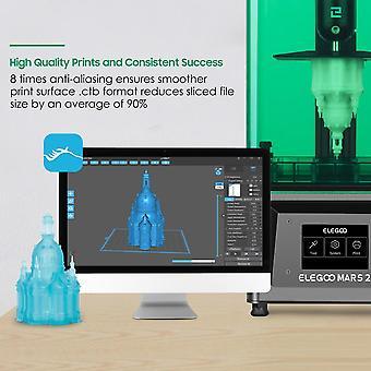 Elegoo المريخ 2 أحادية 3d الطابعة uv photocuring lcd 3d الطابعة مع 6 بوصة 2K أحادية اللون lcd حجم الطباعة 129x80x150mm