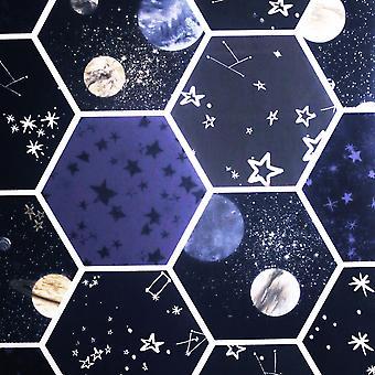 Space Hex Wallpaper Multi Arthouse 669501