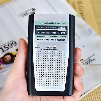 Kädessä pidettävä teleskooppinen taskuantenni Radio Am/fm Mini Radio