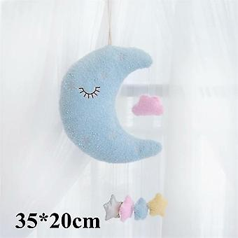 Emotional Moon Star Cloud Shaped Plush Pillow For Home Bedroom Decor