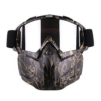 Motocyklová prilba jazdiaca odnímateľná modulárna maska tváre vetruodolné priedušné ochranné okuliare vonku