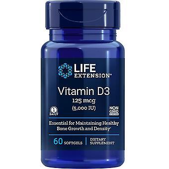 Levensverlenging Vitamine D3 5000iu Softgels 60