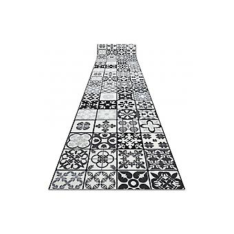 Runner anti-slip AZULEJO PATCHWORK, LISBON TILES grey / black