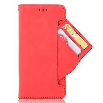 Iskunkestävä lompakon nahkakotelo kiinnikkeellä punaiselle minote 9s / huomautus 9 pro / huomautus 9 pro maxmobile -puhelimen kotelo musta