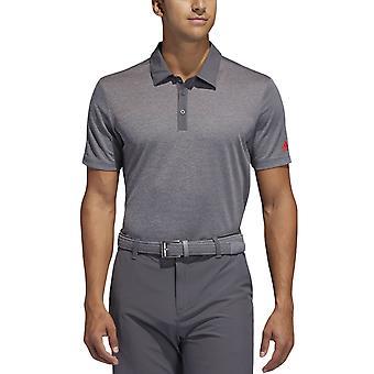 adidas Performace Mens Nyckelsporter Tre Knapp Golf Polo Shirt - Grå