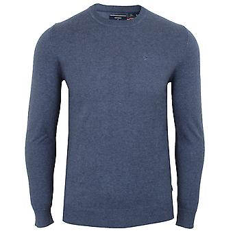 Superdry men's pilot mid blue marl sweater