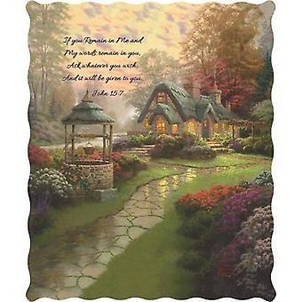 Spura Home Pictorial Make A Wish Cottage Thomas Kinkade Quilted Throw
