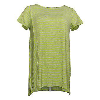 ليزا رينا جمع المرأة أعلى مخطط مرحبا منخفضة هيم الأخضر A379712