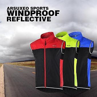 ARSUXEO Pánská ultratenká lehká bunda bez rukávů Běžecká cyklistická vesta