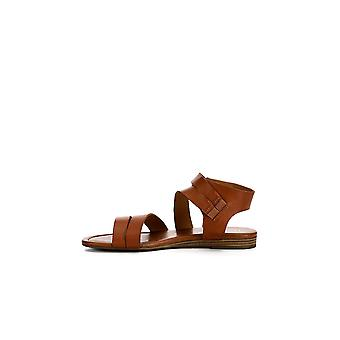 Franco Sarto Womens Genji cuero abierto Toe sandalias de tobillo casual