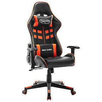 vidaXL Gaming Chair Zwart en Oranje Kunstleer