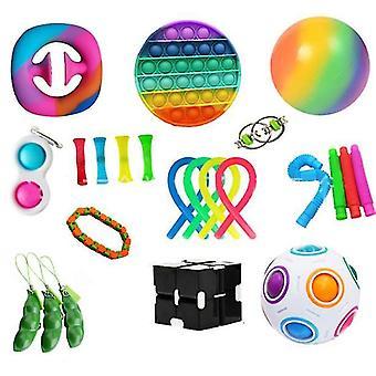 Sensoriske fidget leker sett 23 pack stressavlastning og anti-angst håndleker for barn og voksne beroligende leker x812