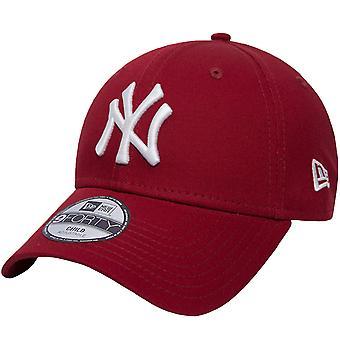 New Era Youth New York Yankees League Essential 9Forty Cap Hat - Punainen - 6-12 vuotta