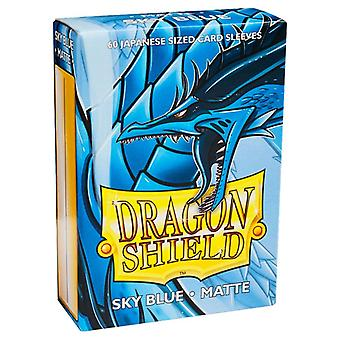 Dragon Shield Matte Sky Blue Japanese Size Card Sleeves - 60 Sleeves