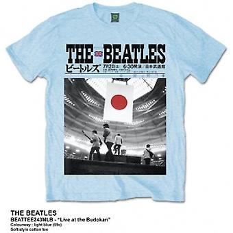 The Beatles At The Budokan Mens Light Blue Tshirt: X Large