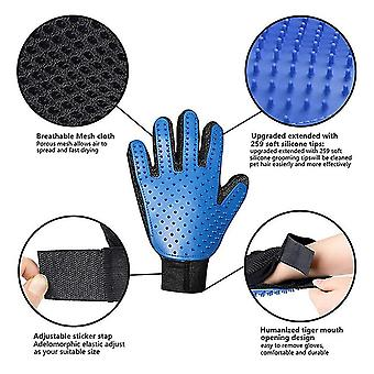 Right hand red dog pet glove silicone cats brush comb deshedding hair gloves dogs bath animal combs fa1155