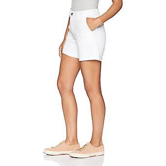 Essentials Naiset's 5&5& Inseam Solid Chino Lyhyet shortsit, -valkoinen, 2