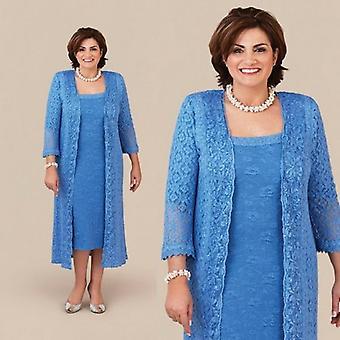 Anya a menyasszony ruhák köpeny tea hossza Csipke kabát ( Set 3)