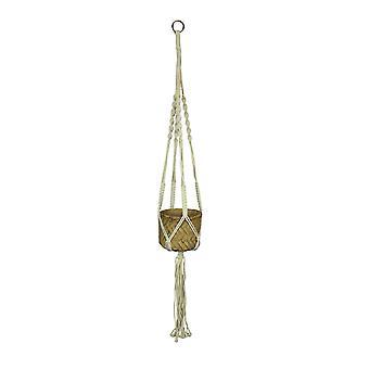 Rope Hanging Cement Succulent Bowl Flower Pot Home Decor Decorative Planter