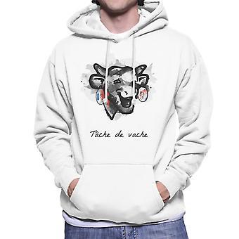 Den grinende ko Tache De Vache Mænds Hætteklædte Sweatshirt