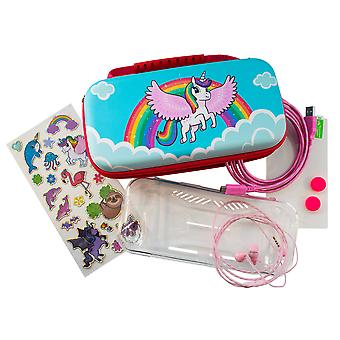 Over the rainbow unicorn 7-in-1 protector kit (nintendo switch)