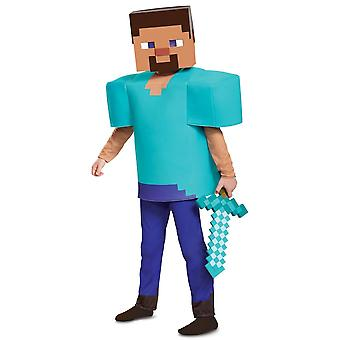 Steve Deluxe Mojang Minecraft Player Video Game Dress Up Child Boys Costume