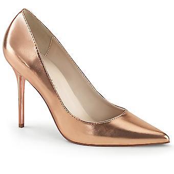 Pleaser Dames Schoenen CLASSIQUE-20 Rose Gold Metallic Pu