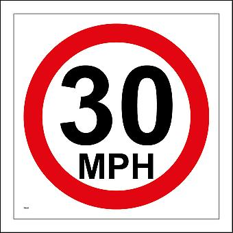 TR029 30 Mph Sign with Circle