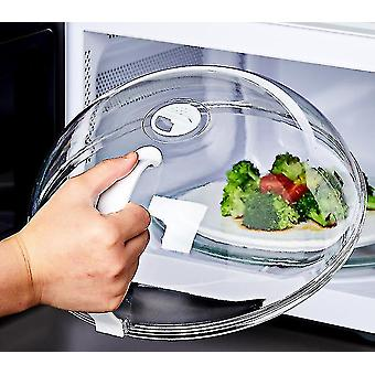 Heat Resistant Lid for Microwave Food Microwave Food Anti-Sputtering Cover With Handle