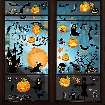 Halloween Naklejka na okno Nietoperze Pająki Przylega Dekoracje okienne Naklejki
