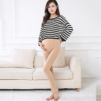 Pregnant Pearl Velvet Outwear Leggings Maternity Warm Slim Thicken Stepping