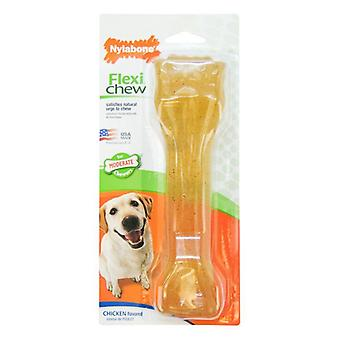 Nylabone Flexi Chew Dog Bone - Kycklingsmak - Souper (1 förpackning)