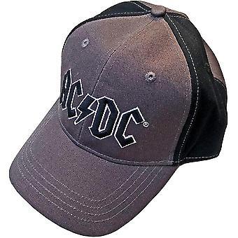 Ac/dc unisex baseball lippis: musta logo (2 sävyä) awo58403