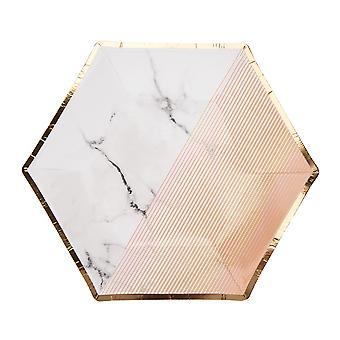 Värilohko marmorilevy - Persikka - Keskikokoinen