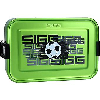 Sigg Aluminium Football Lunch Box Hot or Cold Food Removable Silicone Insert