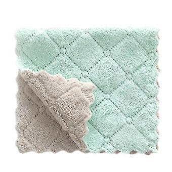 Juego de 20 piezas de toallas de cocina de micro fibra suave multifuncional súper absorbente (gris verde)