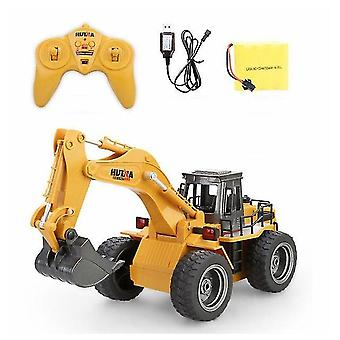 Huina 1530 1/18 rc car 6ch metal excavator remote control excavator toy with charging battery rc