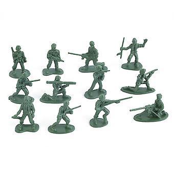 100pcs / pack Militaire En plastique Soldats Soldats Hommes de l'armée Figures 12 Poses Cadeau