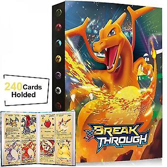 240pcs Sammlung von Pokemon Card Book, Spiel Charakter Card Album