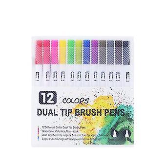 Aquarel pen, marker pen, tot 12 kleuren, fijne lood, aquarel stijl kleur markers, volwassen