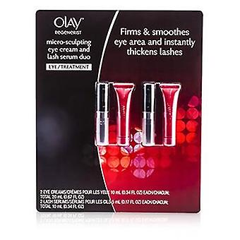 Olay Regenerist Mikro-Skulptur Augencreme & Lash Serum Duo: 2x Augencreme 10ml/0,34 Unzen + 2x Lash Serum 5ml/0.17oz - 4pcs
