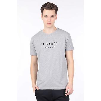 Menns Gray Crew Neck T-skjorte